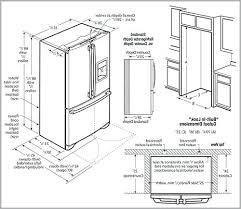 cabinet depth refrigerator dimensions counter depth refrigerator dimensions redoregold com