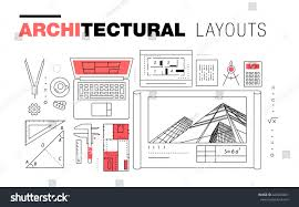 architectural layouts architectural layouts trendy polygonal line composition stock
