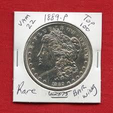 silver dollar city halloween 1889 vam 22 top 100 bar wing bu unc morgan silver dollar 62875 ms
