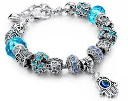 murano glass beads charm bracelet images Austrian crystal murano glass bead hamsa charm bracelets passionhq JPG