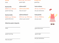spanish foreign language worksheets u0026 free printables education com