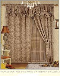 Chezmoi Collection Curtains by Amazon Com Fancy Collection Embroidered Curtain Set 4 Piece Taupe