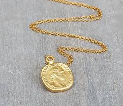 necklace coin images Disc necklace gold coin necklace coin jewelry delicate jpg