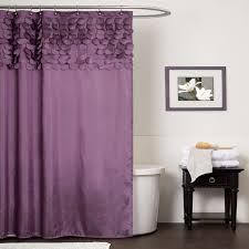 Designer Shower Curtain by Inspirational Purple Shower Curtain With Ruffled Design For Modern