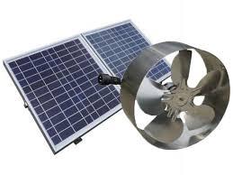 25w solar powered attic fan