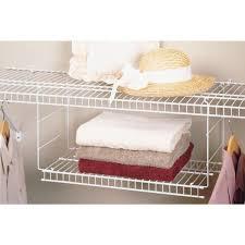 Closetmaid White Gorgeous Design Ideas Hanging Wire Shelves Impressive Shop