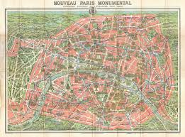 Map Of Paris France File 1910 Leconte Monument Map Of Paris France Geographicus