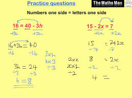 solving simple linear equations practice questions and answers