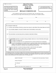 form st 3 fillable resale certificate