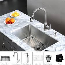 kitchen faucet soap dispenser stainless steel kitchen sink combination kraususa com