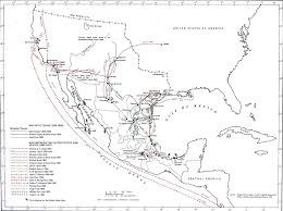 Map Of The United States And Mexico by Map Of Mexican American Campaigns 1835 1853