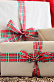 christmas plaid wrapping paper brown paper packages simple beautiful christmas wrapping