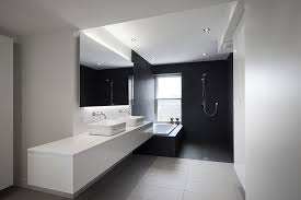 Black Modern Bathroom Bathroom Design Contemporary Bathroom In Black And White Ideas