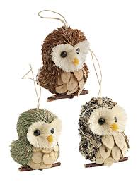 owl ornaments owl ornaments set of 3 for your christmas tree gardeners