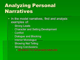 Examples Of Interior Monologue Personal Narrative Writing That Is About A Person U0027s Personal
