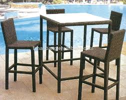 Bar Height Patio Dining Set by Bar Stools 5 Piece Counter Height Dining Set Bistro Table Set