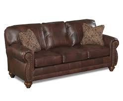 sofa gray nailhead sectional bernhardt leather loveseat