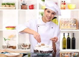 chef cuisine femme chef de femme cuisine gâteau dans la cuisine photographie
