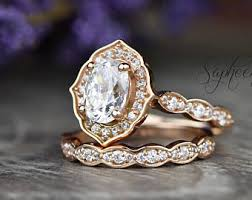 vintage oval engagement rings oval engagement ring etsy