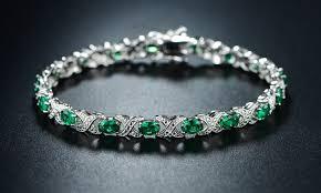 emerald bracelet images 20 03 cttw emerald bracelet groupon goods jpg