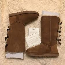 uggs womens boots on ebay boot ugg australia bailey bow chestnut original 1007308
