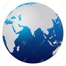 Africa And Asia Map by World Map Blue Globe Africa And Asia Stock Photo Picture And