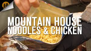 mountain house noodles u0026 chicken backpacking food field review