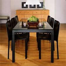 glass parsons dining table parsons dining table with glass top 837464868581 from room board and