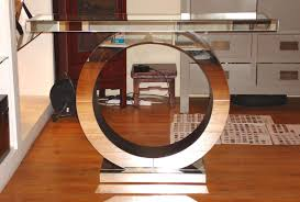 Console Table For Living Room by Living Room Art Deco Furniture Ideas With Circle Mirrored Console