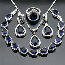 blue sapphire necklace sets images Blue sapphire jewelry sets fibromyalgiawellness info jpg