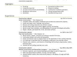 download laborer resume download construction laborer resume