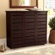 shoe cabinet with drawer darby home co 20 pair slatted shoe storage cabinet reviews wayfair