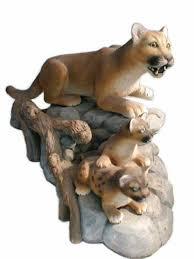 mountain lion statue wildlife artist gallery the mountain lion den wildlife big