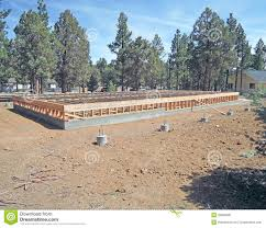 concrete slab u0026 wood foundation stock photo image 39668036