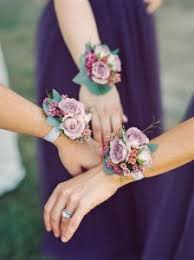 wrist corsage lavender garden style wrist corsage with lavender spray roses in