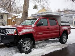 pop up cer toyota tacoma pop up shorter 5 0 bed four wheel cers low profile