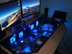 Pc Desk Ideas Desk Mod Watercooled Pc Thermaltake Core P5 Riing Fans Pc Tisch