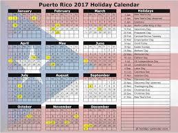 puerto rico 2017 2018 holiday calendar