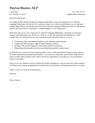 speech language pathologist cover letter sample slp pinterest