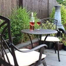 bentley garden cast aluminium bistro table and chairs set