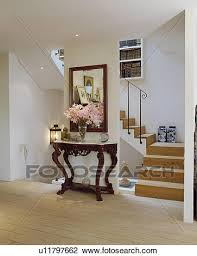 White Hallway Console Table Stock Photo Of Antique Marble Topped Console Table Below