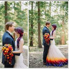 ombré wedding dress this dyed wedding dress to match hair see the