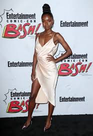 ashleigh murray at the entertainment weekly party in san diego