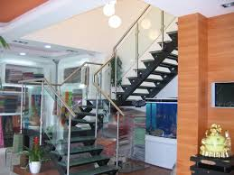 natural elegant design of the banister rails metal that has wooden