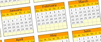 free excel calendar template for year 2009 download and print