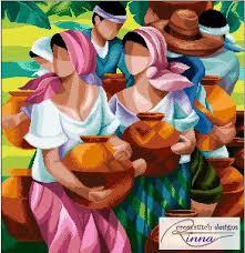 magpapalayok a filipino art in cross stitch pattern in pdf by cross