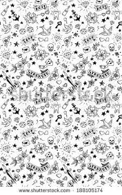tattoos elements pattern vector illustration by ms