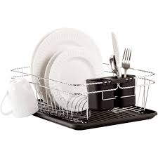 Dish Drainers Kitchen Details 3 Piece Twisted Dish Rack Chrome 16 5