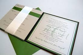 Wedding Invitation Folded Card Monogram Inspired Booklet Wedding Invitations Lepenn Designs