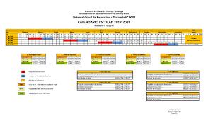 calendario escolar argentina 2017 2018 sistema virtual